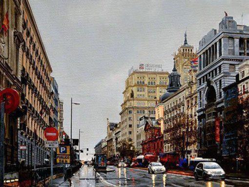 Día de lluvia en Alcalá