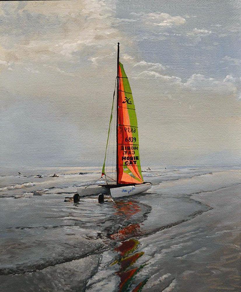 Playa nublada
